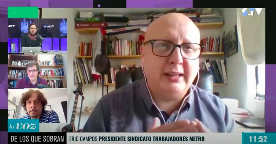 Presidente del Sindicato 1 del Metro de Santiago expone la alarmante situación de sus funcionarios