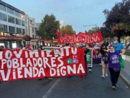 Viviendazo movilizaciones Santiago